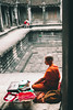 The Sacred and the Profane. (spaceabstract) Tags: angkorwat asia cambodia divine god holy human monk moody photography red religion robe siemreap sony temple travel vsco wat