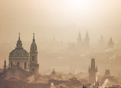 First light (10000 wishes) Tags: prague travelphotography dawn sunrise haze beauty smoke cold scenic architecture sun