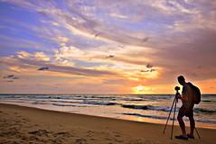 (Roi.C) Tags: sun sunset sky skyline clouds water waves beach sand season landscape seascape telaviv israel nikkor nikond5300 nikon serene sea outdoor silhouette reflection hdr sunrays sunbeams sunlight light horizone fotografer