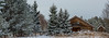 Wooden House In Winter Forest (AudioClassic) Tags: snow house winter village forest woodmaterial nonurbanscene firewood landscape lifestyles frozen nature ruralscene relaxation cultures sprucetree pinetree woodland lifestyle residentialbuilding footpath conceptsandideas homeownership silence tranquilscene purity freshness harmony coldtemperature