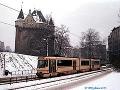 7902-04727§0 (VDKphotos) Tags: stib mivb bn pcc t7900 tram livrée54 belgium l55 neige