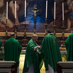 Morning Mass by the Altar at the Tomb of Saint John Paul celebrated by Bishops from Bielarus at the end of Ad Limina Visit in Vatican thumbnail