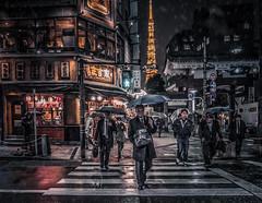 Tokyo. Evening. (Dmitry_Pimenov) Tags: tokyo japan city cityscape street streetphotography people urban asia travel trip night evening dark dipimenov dmitrypimenov snow snowy дмитрийпименов токио япония вечер abigfave