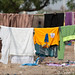 A community washes its clothes