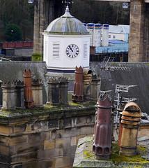 Time for a smoke? (Mr_Pudd) Tags: clocktower clock chimney tyne houses roof tiles newcastleupontyne