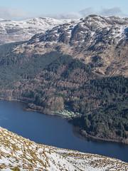 The Caravan Park - Loch Eck Feb 2018 (GOR44Photographic@Gmail.com) Tags: caravans loch eck gor44 water white scotland snow hills mountains achruach trees winter sunlight olympus omdem5 panasonic 45150mmf456