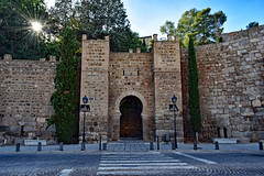 Alcantara Gate, Toledo (Jocelyn777) Tags: arch horseshoearch gate mudejar wall stones architecture monuments historicsites toledo spain travel