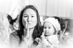 Oh Baby (Barb Henry) Tags: female girl baby faces portrait beauty blackwhite expressions