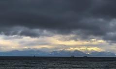 Juan de Fuca (Per@vicbcca) Tags: canada clouds britishcolumbia victoria iphone8plus seascape mountains vancouverisland juandefuca ships iphone8 light olympicmountains portangeles