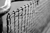 Stretcher Fence (That James) Tags: london england uk ww2 worldwar2 wwii fencing blitz stretchers mesh wire zoom depth blackandwhite grid crisscross railings steel painted black galvanised history historic old separate