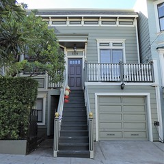 San Francisco, CA, Noe Valley, Victorian House (Mary Warren 13.5+ Million Views) Tags: sanfranciscoca noevalley architecture building house residence victorian garage stairs porch