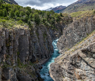 Rio Aviles seen from the suspension bridge