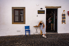 Pancha Villa (amcatena) Tags: city blue house architecture white chair village portugal villa pancho