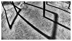 Shadows in the night (leo.roos) Tags: fietsenrekken fietsenstalling bicycleparking bikeparking urack bikerack bicyclestorage bicycleparkingrack bicyclestand fietsenrek longexposure tijdopname noiretblanc shadows schaduwen a7rii lensbabyfisheyeoptic1240 lensbabyscout amount darosa leoroos dayprime day12 dayprime2018 dyxum challenge prime primes lens lenses lenzen brandpuntsafstand focallength fl