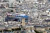 stadszicht met een streepje blauw (roberke) Tags: stadszicht cityscape daken rooftops straten streets huizen houses church kerk kerktoren parijs paris outdoor architecture architectuur
