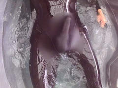 FHD0254 (hottubing_in_a_thong) Tags: spandex adidas lycra swimsuit wet bulge