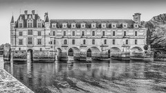 Chenonceau Castle...  Memory in b/w (capvera) Tags: chenonceau castle château loire cher monochrome bw memory loirevalley nb
