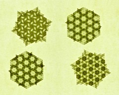 Basics (De Rode Olifant) Tags: marjansmeijsters origami tessellation hexagon triangle basics paper paperfolding