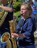 Blowing Her Horn (Scott 97006) Tags: woman female lady girl highschool parade marching band saxophone insrument play march