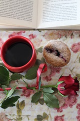 Love these things (kattheraccoon) Tags: art photography canon canoneos1300d eos 1300d camera coffee cupcake muffin sweet candy book mug red reading relaxing winter rose flower romance romantic