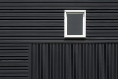 White window, black wall (Jan van der Wolf) Tags: map176145v simple minimalism minimalistic wall gebouw gevel lines lijnen window raam black white blackandwhite zwartwit zwart wit facade architecture architectuur