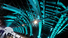 grüne Passage (FotoTrenz NRW) Tags: tunnel unterführung köln brücke beleuchtung licht grün stahl bahnhof hauptbahnhof passage light cologne