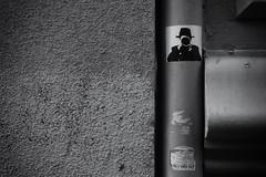 Wall Stickers 2 (lucas2068) Tags: bw blackandwhite blancoynegro byn monochrome monocromo sticker wall streetpaint graffiti valencia españa spain