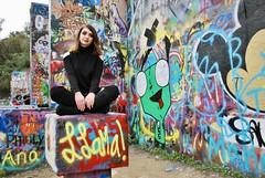 (Kristin Kurtz) Tags: portraits austin atx austintexas texas hopeoutdoorgallery graffitipark seniorphotos gir invaderzim graffiti paint