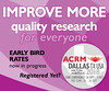 IMPROVE MORE: Quality Research For Everyone! (ACRM-Rehabilitation) Tags: acrm2018 dallas hiltonanatole progressinrehabilitationresearch acrmprogressinrehabilitationresearchconference acrmconference research rehabilitationresearch conference continuingeducationcredits concussion braininjuryrehabilitation science scientificpaperposters scientificresearch medicalconference medicaleducation strokerehabilitation spinalcordinjury neurodegenerativediseases neuroscience