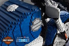 LEGO® brick Harley-Davidson 2018 48 motorcycle tank details (TheBrickMan) Tags: lego brickmansydney brickman awesome harleydavidson motorbike motorcycle forty eight life size