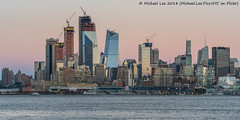 A Little Pink Sky (20180113-DSC07260) (Michael.Lee.Pics.NYC) Tags: newyork hudsonyards sunset hoboken newjersey hudsonriver architecture construction cityscape skyline midtown sony a7rm2 fe70300mmg