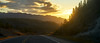 Rounding the Bend to Morning (Aerogami.com) Tags: yukon morning sunrise sunset bend road highway roadtrip canada alaska alcan northern driving