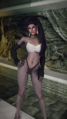 Meviri | 90% Legs (noirslate) Tags: skyrim girl elf sexy nude nsfw 4k portrait character landscape video game screenshot wallpaper