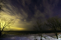 Winter Night (Tom Gill.) Tags: lake lakemichigan greatlakes night winter stars ice frozen shelfice indiana indianadunesnationallakeshore