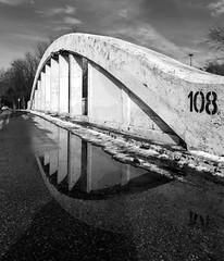 2018_03-52_b&w (born ghost) Tags: bw toronto canada bridge reflection 52weekchallenge dogwood2018 structure leadinglines architecture urban blackandwhite