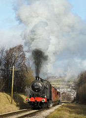 """""""Delivering The Goods!"""" 4F 43924 (Liam60009) Tags: keighleyandworthvalleyrailway kwvr worth worthvalley valley keighley 4f 43924 steam steamlocomotive steamtrain steaming fowler locomotive gnstraight straight exhaust photocharter timelineevents sony sonya7rii a7rii"""