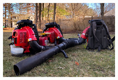 Cleanup Day (Timothy Valentine) Tags: 2018 yardwork leafblower outback datesyearss home three o 0118 eastbridgewater massachusetts unitedstates us