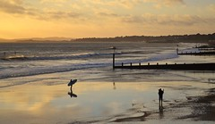 Surfer (Tilney Gardner) Tags: surfing reflection dorset bournemouth boscombe beach southcoast clouds sunset nikon