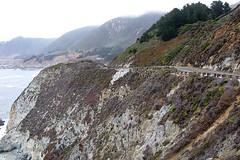 Highway 1, Big Sur (AntyDiluvian) Tags: california coast bigsur sea waves surf hillside highway road cliffs highway1 vistapoint viewpoint