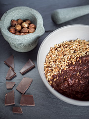 Chocolate and Hazlenut Porridge (nickpowellphotography) Tags: food photography chocolate hazlenut porridge roasted healthy cacao treat natural light