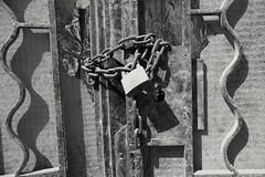 The forbidden door (ahmad al-shawaf) Tags: door chain padlock lock black white blackandwhite photography pentax iron close closed