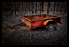 Carwoola Fire  -  [#1 of 5] (Kevin Rheese) Tags: carwoola bushfire destruction devastation disaster fire trailer