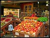 Hot Tomatoes (PEN-F_Fan) Tags: market vegetables man farmersmarket tomatoes display olympuse420 topazadjust affinityphoto on1photoraw2018 embarcadaro sanfrancisco california unitedstates raw fourthirds 43