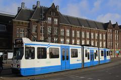 920, Amsterdam Centraal, January 27th 2015 (Southsea_Matt) Tags: 920 serie11g gvbamsterdam centraalamsterdamhollandthe netherlandspassenger travelpublic transporttrammetrolight rail