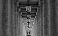 Palais-Royal (Guillaume DELEBARRE) Tags: noiretblanc nb perspective bokeh repetition colonnes colonnade paris france canon 50f12 6d blackandwhite bw guillaumedelebarre delebarre dof