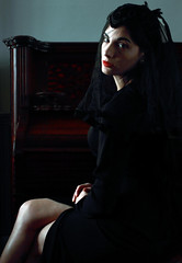 Awaiting your next request (coollessons2004) Tags: woman krystalsmith mystery mysterious dark piano musician music beauty beautiful moody portrait