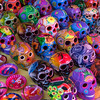 Art at the market (cdnfish) Tags: lamanzanilla bayoftenacatita jalisco mexico streetphotography market art skull skulls bowl colourimage marketday travel travelphotography sony sonya7m2 a7m2 sonyfe1850 red blue black white green yellow