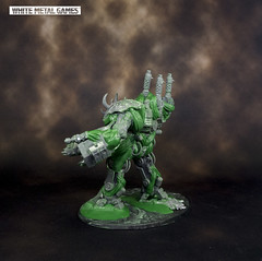 Chaos Forgefiend (whitemetalgames.com) Tags: forgefiend forge fiend chaos space marines obliterator nemesis dreadknight inspired dread knight 000wmgwhitemetalgameshobbycommissionpaintedpaintingserviceservicesraleighnc whitemetalgames kit bashed kitbashed bashing conversion knightdale