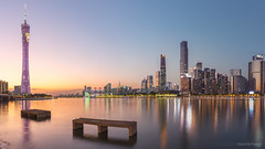 In a Pearlriver Newtown of fantasy (kevinho86) Tags: 24mm eos6d sunset canon colour canton city cityscapes longexposures lightshadow urban reflection magichour 内透 pearlrivernewtown 珠江新城 feelings 建築 城市 天空 guangzhou landscape scenery scape downtown innerlights twilight art wideangle citylights landmark water 天際線 simple architecture 都會