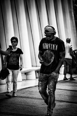Nirvana (M. Nasr88) Tags: newyork nyc manhattan usa america unitedstates american people man fashion nirvana blackandwhite bw monochrome street streetphotography candid autofocus nikon nikond5300 nikondigital nikonphotography raw